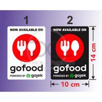 Sticker Go Food vinyl stiker Gofood tahan air 14 x 10 cm