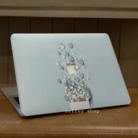 Macbook Air New 13 Mac Book Flower Blue Case Cover Hard Soft Casing