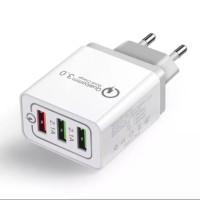 Adaptor Charger 3 Port USB Fast Charging Quick Charging QC 3.0