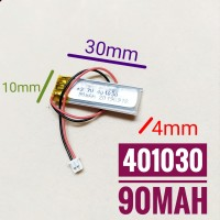401030 Li ion 3.7v 90mAh Protection Baterai Charge Mp3 Mp4 GPS Hp