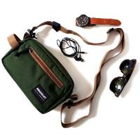 Geneva Olive Wanderlust - Pouch Bag Handbag Clutch Travel Organizer