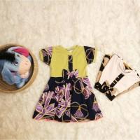 BC02 Gaun / Dress Baju Anak Perempuan Batik Baby (Lengan Pendek)