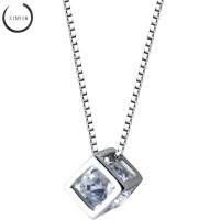 Kalung Alloy Anti Karat Crystal Rantai dengan Liontin Batu Zircon