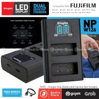 KINGMA LCD DUAL CHARGER NP-W126 Fujifilm XA3 XA5 XA10 XA20 XT20 Etc