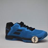 Sepatu Tenis Babolat SFX3 All Court Diva Blue Black Tennis Shoes