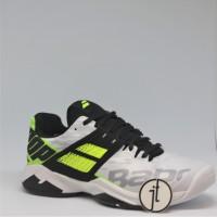 Sepatu Tenis Babolat Propulse Fury White Fluo Aero Tennis Shoes