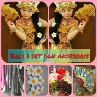 Pakaian adat bali tari kostum anak penari legong daerah bali