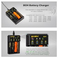 AUTHENTIC BASEN BO4 Charger Battery BO 4 slot no awt c4 or nitecore i4