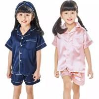 PIYAMA ANAK Satin Pendek 1-5 Tahun Baju Tidur Anak BerKualitas