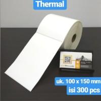 LABEL BARCODE 100 X 150 KERTAS STICKER THERMAL 100x150 mm (300 pcs)