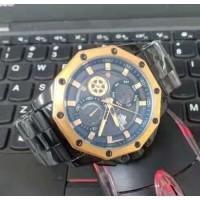Jam tangan pria Casual D-ziner DZ-9027 Chrono Rantai