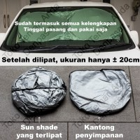 Sun Shield Pelindung Panas UV Kaca Tirai Mobil - Peredam Model Lipat