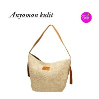 Tas Kombinasi Anyaman dengan Kulit Asli Exclusive - Limited Edition