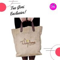 Tas kombinasi goni dengan kulit Asli Exclusive - Limited Edition