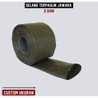 Selang Irigasi PVC Terpaulin Semi Karet JAWARA Panjang Custom 2 dim