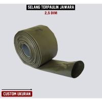 Selang Irigasi PVC Terpaulin Semi Karet JAWARA Panjang Custom 2,5 dim