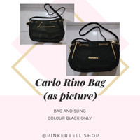 carlo rino bag black