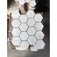 Mozaik / Mozaic Hexagon Keramik lantai / dinding / backsplash