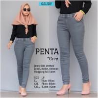 Jeans Wanita Celana Wanita Penta Grey Tebal Melar Nyaman