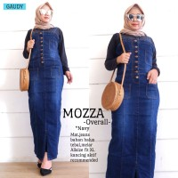 Jumpsuit Overall Mozza Navy Halus Tebal Melar Recomended