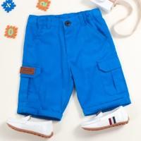 Celana Pendek Cargo Biru