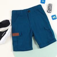 Celana Pendek Cargo Biru Tosca