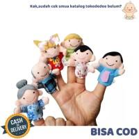 TokoDedee - Boneka Jari Isi 6 / Mainan Boneka Jari Anak Tema Keluarga