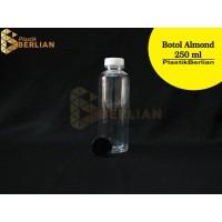 Botol Almond 250 ml / Botol Kemasan Juice PET (Isi 100) Putih / Hitam - Hitam