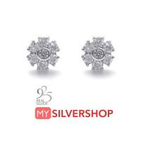 ANTING TUSUK GIWANG STARRY Real Silver 925 Lapis Emas Putih