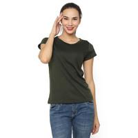 MOSIRU Kaos Wanita Baju Oblong Termurah Tumblr Tee O-Neck Pendek