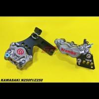 Kaliper Brembo Ninja 250 250fi Z250 Depan Belakang 1set Bracket WR3