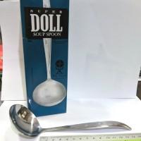 Sendok Sayur Stainless Doll 404 gagang lengkung