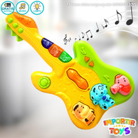 Mainan Musikal Anak Gitar Little Music Colourful Lucu 2 Warna - Kuning