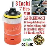 Aksesoris Mesin Poles 3 7pcs Alat Busa Velcro Polishing Mobil Motor