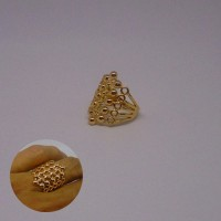 Cincin Xuping Gold Motif Corak Bali Perhiasan Wanita
