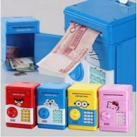 TOYS Celengan ATM Deposito Box Karakter / Bank Brankas Mainan Anak