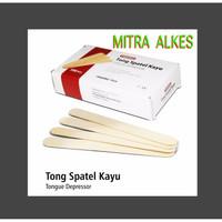 Tong Spatel Kayu isi 100. Toung spatel Lidah Wooden Tongue Depressor