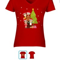 Kaos Cewek Tema Natal