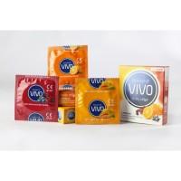 Kondom Rasa Jeruk, Mangga, Buah-buahan, VIVO Fruity Affair 1 Box 3 Pcs