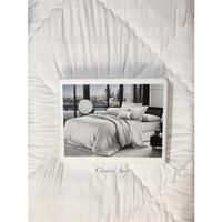 Sprei Hotel Putih Salur Emboss Atlantic 160/180/200x200x40cm