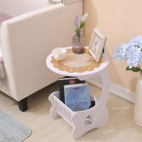 MH515 Small Round Coffee Table / Meja Ngopi Bulat samping sisi