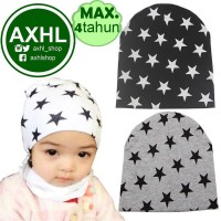 Baby Stars Beanie Hat Topi Kupluk Anak Bayi Laki Perempuan 0-2 Tahun H