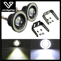 Lampu LED Fog Lamp Mobil Foglight Angel Eyes 89mm Projector Universal