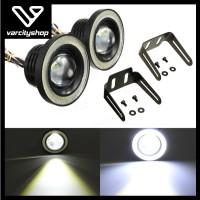 Fog Lamp Mobil Foglight Angel Eye 89mm Angel Eyes Lampu LED Projector