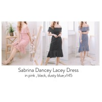 dress brokat pesta premium import Sabrina brukat Dancey Lacey