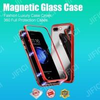 Samsung C9 pro magnetic glass premium case 2in1