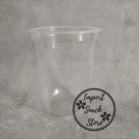 Gelas Cup Plastik Minuman PP Oval 16 Oz / Cup Oval PP 16 Oz