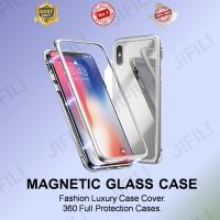 Samsung A6+ magnetic case glass premium case 2in1
