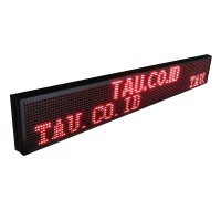 LED Running Text OUTDOOR, MERAH 100 cm x 20 cm + WIFI 100cm x 20cm