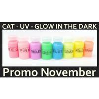 cat Glow in the dark UV Paint Bodypainting 10ml aman untuk kulit